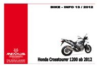 REMUS NEWS 13 Honda Crosstourer 1200 ab 2012