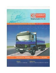 Product Catalog - Darshan Weighing System Pvt. Ltd.