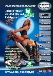"""""""DER EXTREME"""" mit dB-Killer und Katalysator! www.bsm-auspuff.de"""