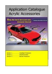 Application Catalogue Acrylic Accessories - Cheviot Automotive ...