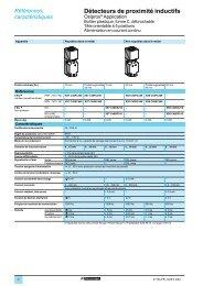 Détecteurs de proximité inductifs 2 - Schneider Electric
