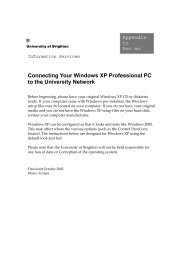 Connecting Your Windows XP Professional PC to the University ...