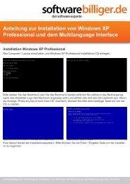 Anleitung zur Installation von Windows XP Professional und dem ...