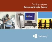 8508884 - Setting up your Gateway Media Center