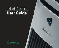 Gateway Media Center User Guide