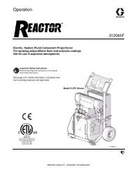 Reactor, Electric Proportioners, Operation, US English - Specialty ...