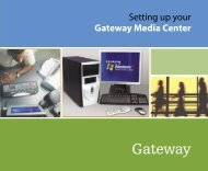 8509338 - Setting up your Gateway Media Center