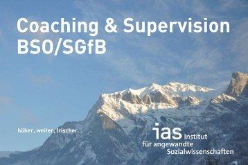 Coaching & Supervision Bso/Sgfb - Institut für angewandte ...