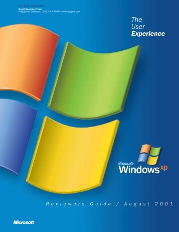 Microsoft Windows XP Reviewers Guide - August 2001 - Tomax7