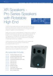 XR Speakers - Pro Series Speakers with ... - Visono Media AB
