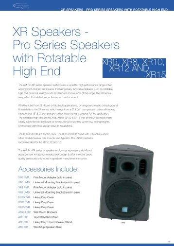 XR Speakers - Pro Series Speakers with ... - Visono Media AB
