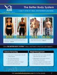 The Better Body System - Yoli