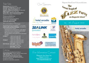 24 - 26 August 2012 - Magnetic Island Jazz Festival
