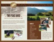 Download a Brochure - Twin Peaks Ranch