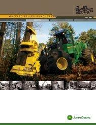 technical data 643j 843j wheeled feller bunchers - John Deere