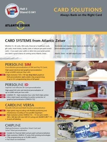 CARD SOLUTIONS - Atlantic Zeiser
