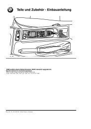 Teile und Zubehör - Einbauanleitung