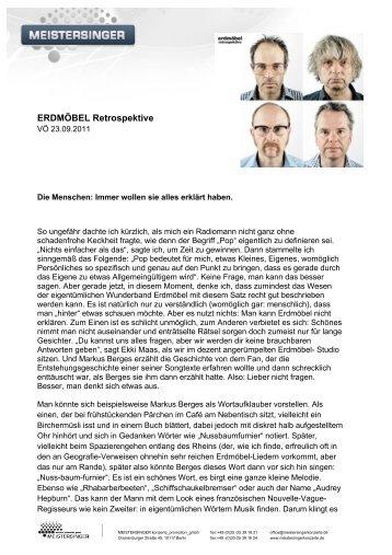 ERDMÖBEL Retrospektive - Meistersinger