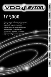 VDO Dayton TV 5000, User manual - jewuwa