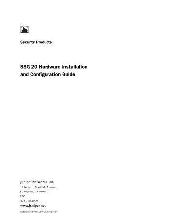 juniper ssg 140 configuration guide