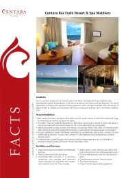 Centara Ras Fushi Resort & Spa Maldives - Centara Hotels & Resorts