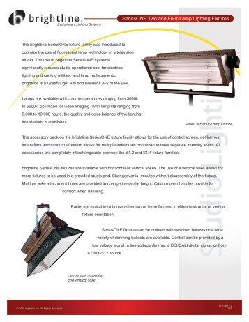 SeriesONE 2- and 4-lamp (1.2-1.4) data