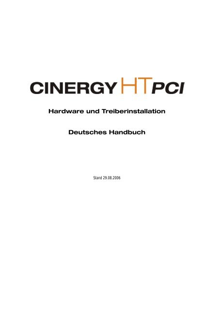 CINERGY HT PCI MKII TREIBER WINDOWS 10