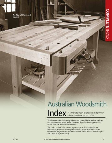 click here to download the index for issues - Australian Woodsmith