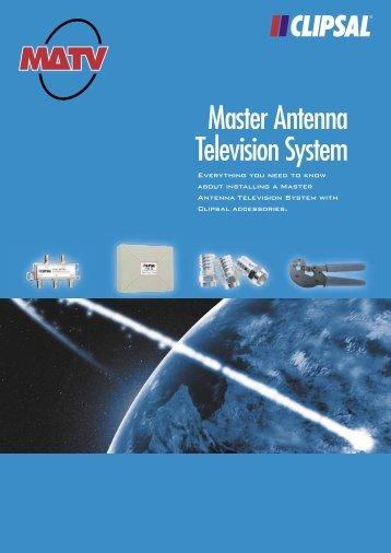 MATV Master Antenna Television System, 5902 - Clipsal