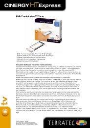 DVB-T und Analog TV Tuner - TERRATEC
