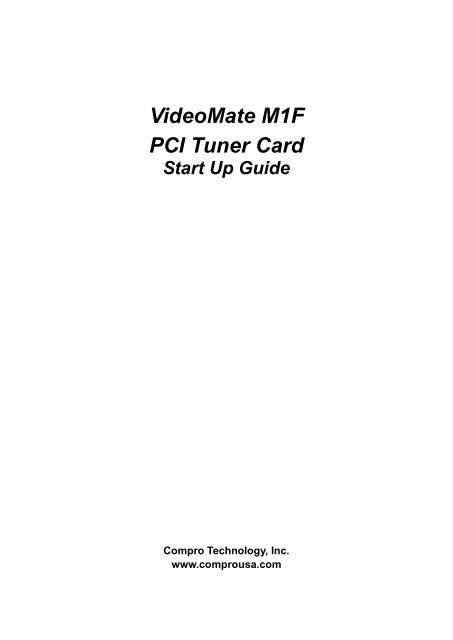 VideoMate M1F PCI Tuner Card