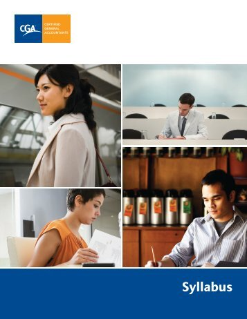 Syllabus - Certified General Accountants Association of Canada