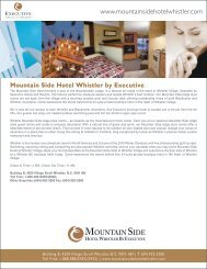 Mountain Side Hotel Whistler by Executive - Executive Hotels ...