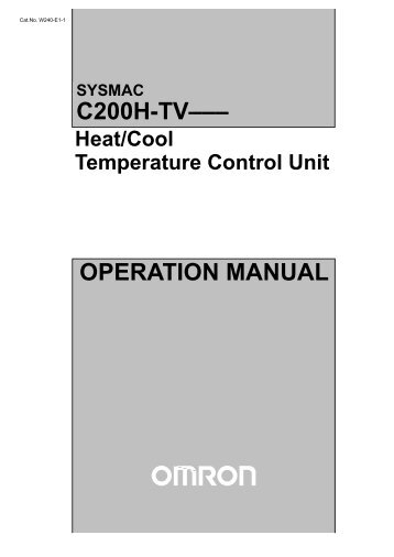 V002-E1-3 Nt600M Operation Manual.Pdf - Omron