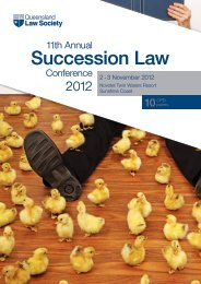 Queensland Law Society 11th Annual Succession Law Conference ...