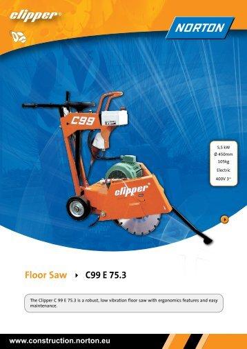 Floor Saw C99 E 75.3 - Norton Diamond Products - Norton.eu