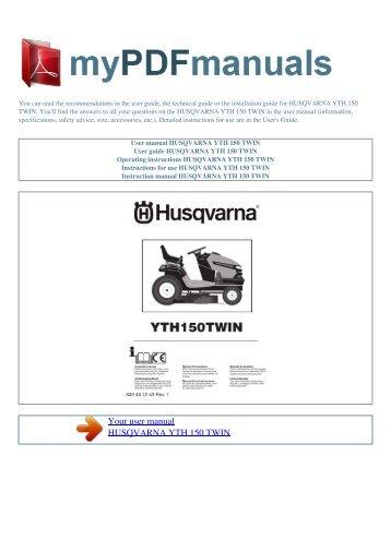 Operator's manual, h 342 sg grass catcher. Husqvarna.