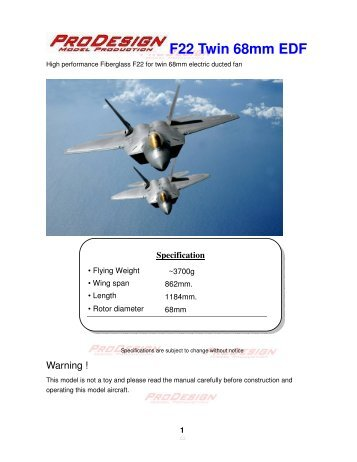 F22 Twin 68mm EDF - Hobby King