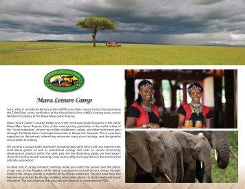 Brochure - Mara Leisure Camp
