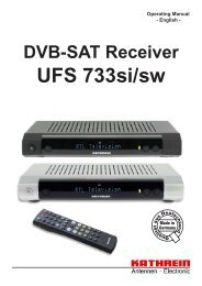 9363376b, Operating Manual DVB-Sat Receiver UFS ... - Kathrein