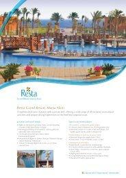 Resta Grand Resort, Marsa Alam - Resta Hotels & Resorts