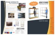 storage solutions for your warehouse - Shelf N Store