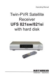 9362858a, Operating Manual Twin-PVR Satellite Receiver UFS 821 ...