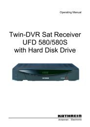 9362576b, Operating Manual Twin-DVR Sat Receiver ... - Kathrein