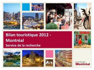 Bilan touristique 2012 - Montréal
