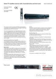 Smart TV satellite receiver with a hard disk - Kathrein