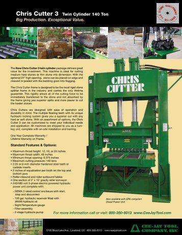 Chris Cutter 3 Twin Cylinder 140 Ton Big Production. Exceptional ...