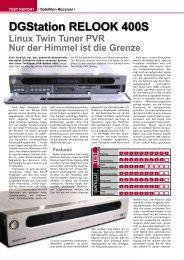 DGStation RELOOK 400S - TELE-satellite International Magazine