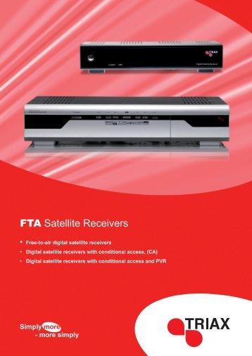 FTA Satellite Receivers - Triax
