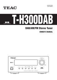 DAB/AM/FM Stereo Tuner - TEAC Europe GmbH